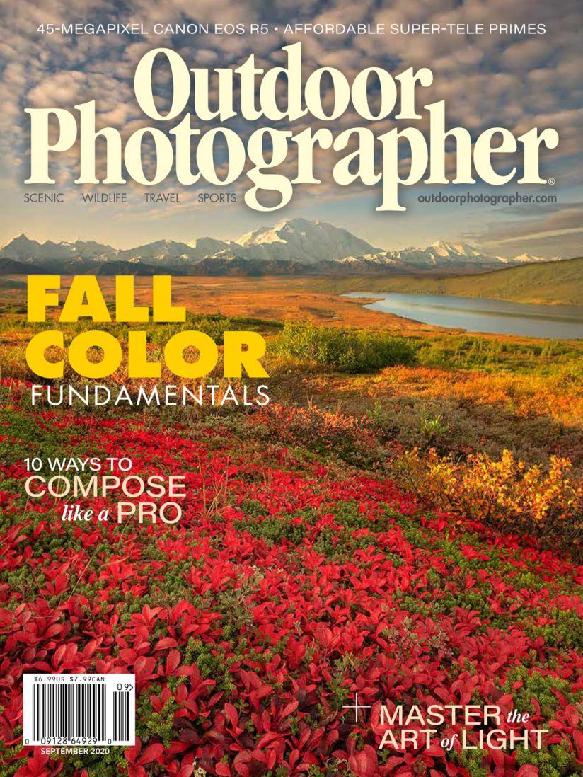 Image of the cover of Outdoor Photographer's September 2020 issue