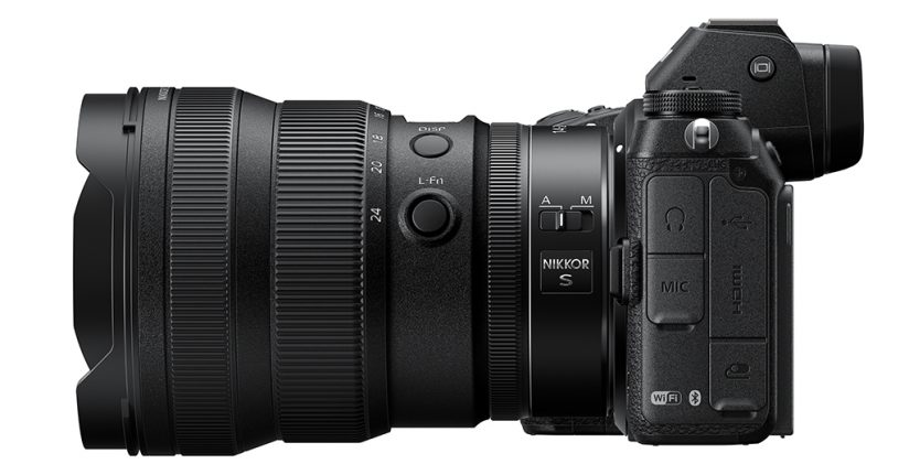 Image of the NIKKOR Z 14-24mm f/2.8 S attached to a Z camera