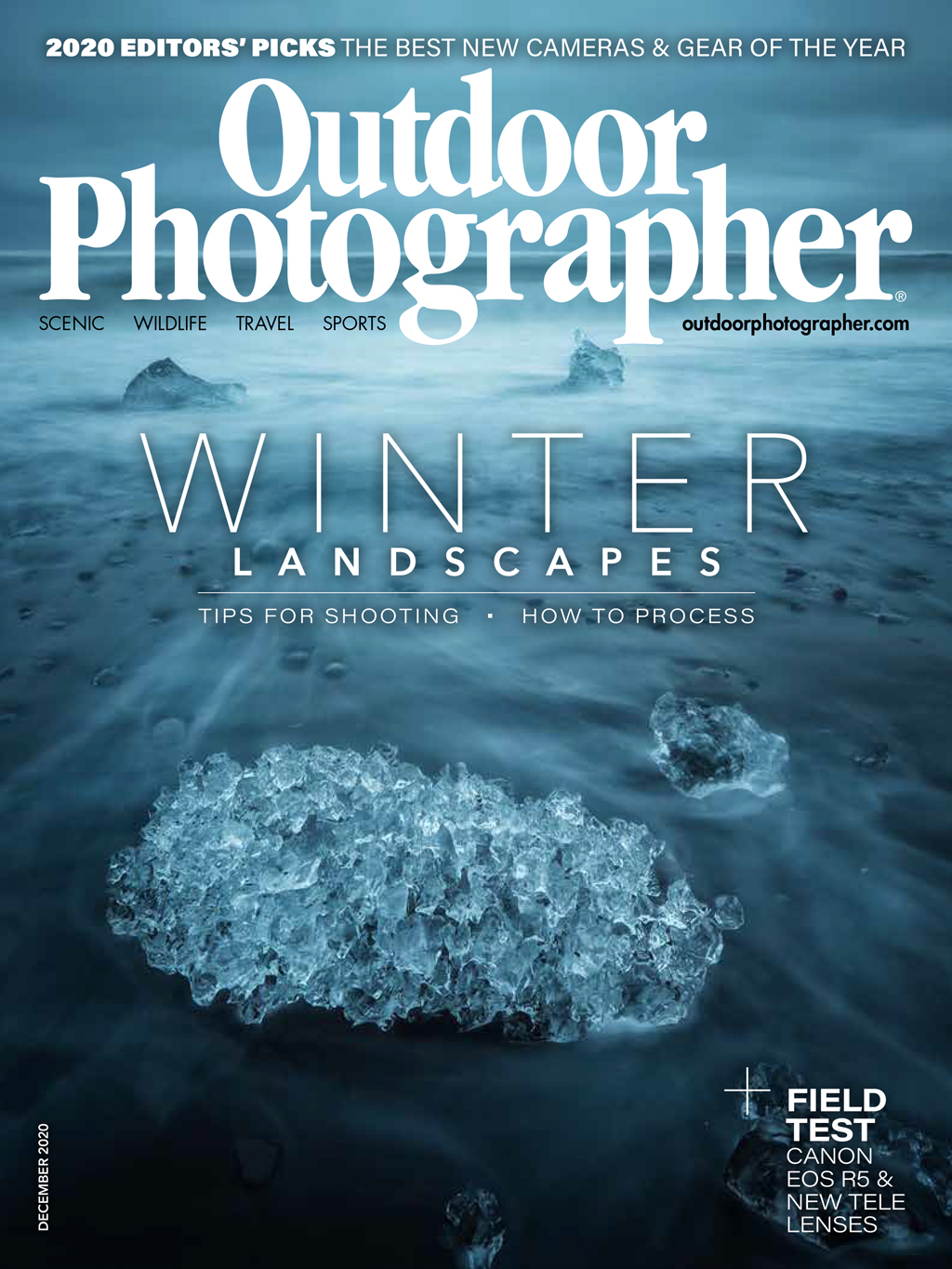 Cover of Outdoor Photographer December 2020 issue