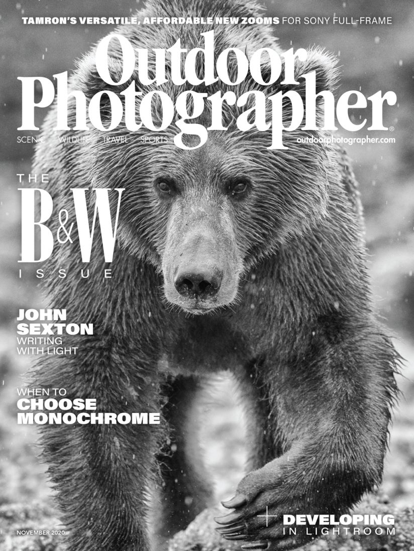 Cover of Outdoor Photographer November 2020 issue
