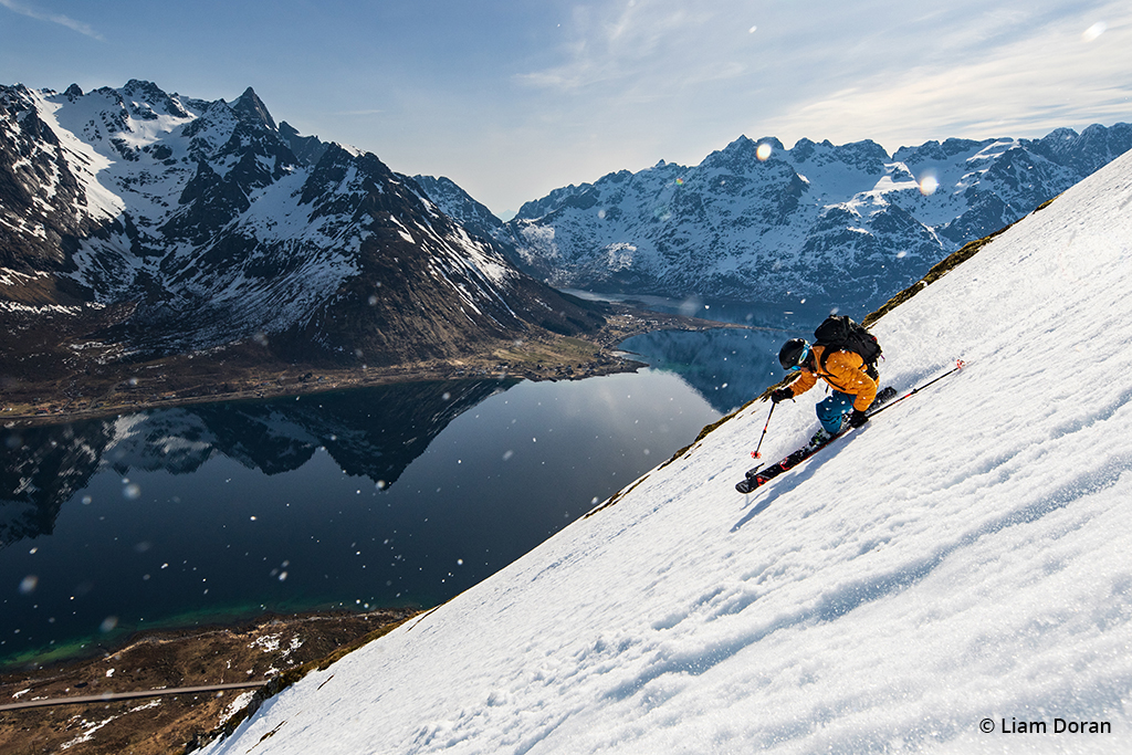 Ski photography image of a pro skier in Norway.