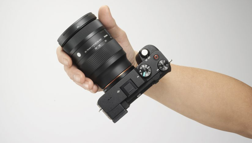 Image of the 28-70mm F2.8 DG DN mounted on a Sony a7C