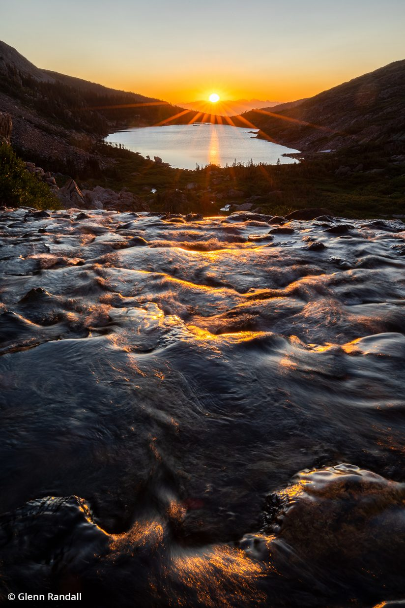 Image of sunrise at Indian Peaks Wilderness