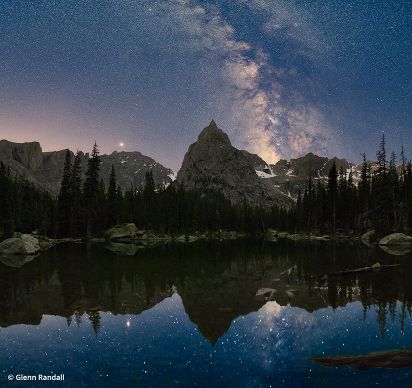 Image of the Milky Way over Lone Eagle Peak