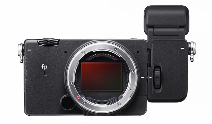 Image of the Sigma fp L with EVF-11 viewfinder attached