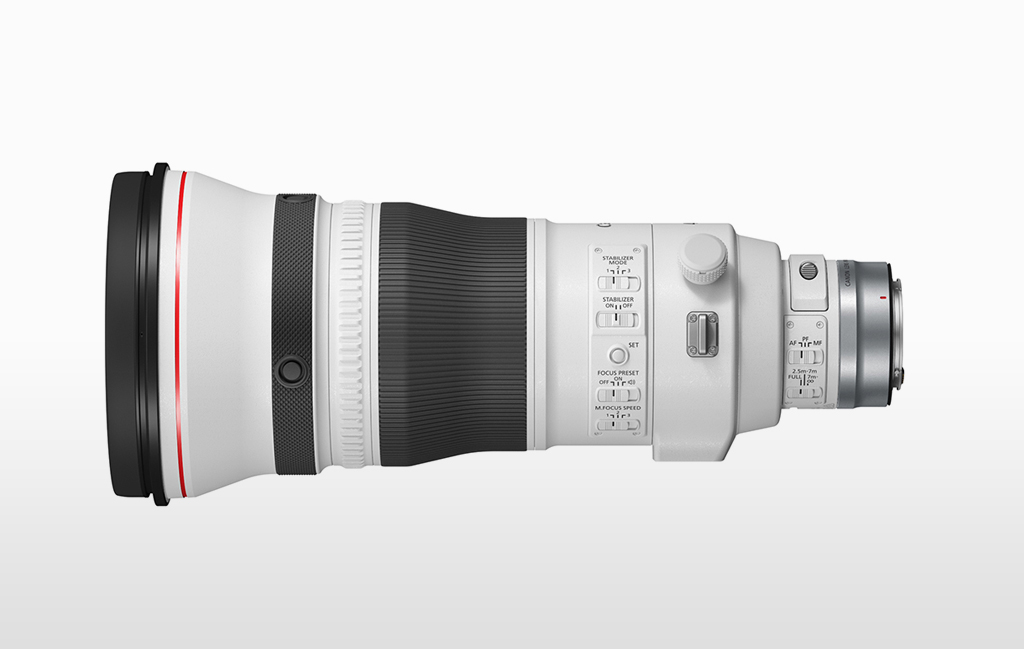 Image of the Canon RF400mm ƒ2.8 lens