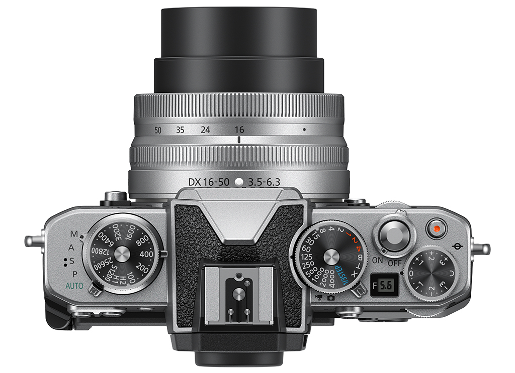 Image of the top panel of the Nikon Z fc