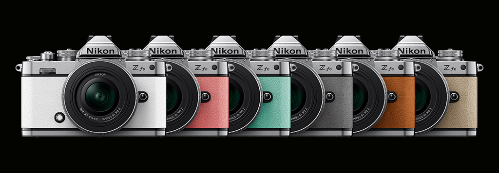 Image of color options for the Nikon Z fc