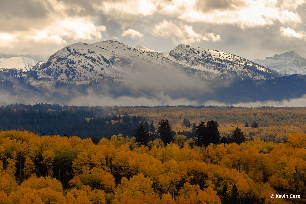 Winter Up High Fall In The Valley By Kevin Cass