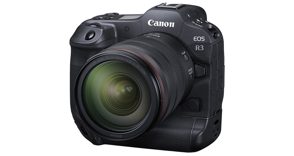 Front view of the Canon EOS R3