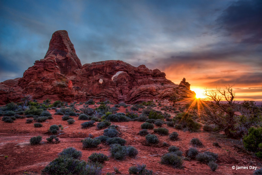 Turret Arch Sunset By James Day