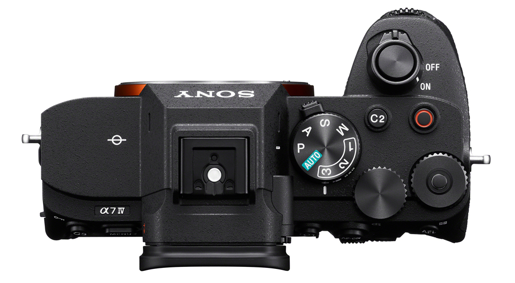 Image of the top panel of the Sony a7 IV