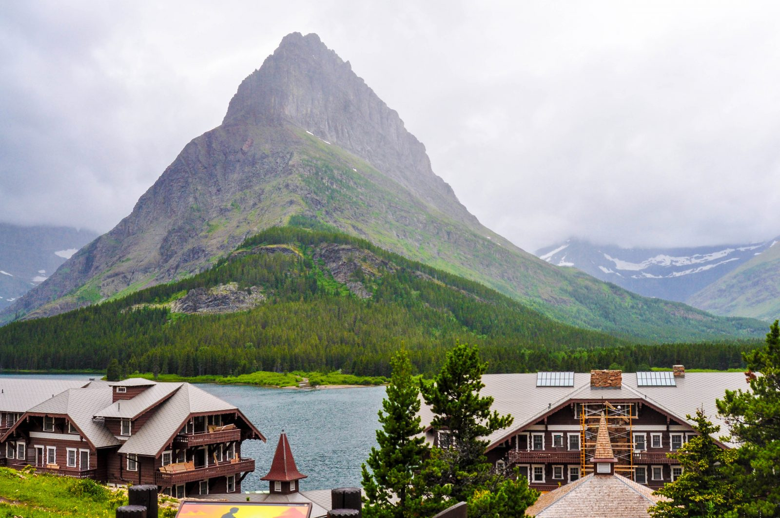 Swiftcurrent Lake during storm