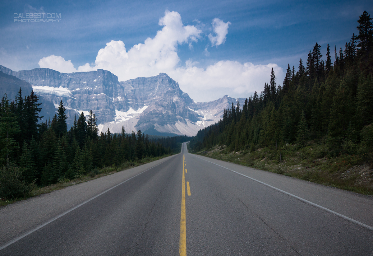 Icefields Parkway and Crowfoot Mountain