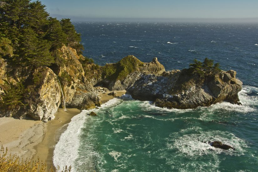 McWay Falls and Beach at Julia Pfeiffer Burns State Park