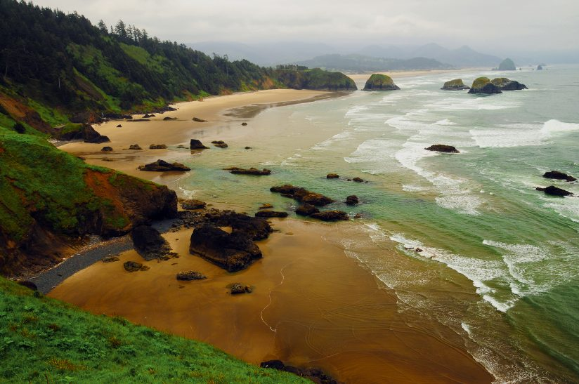 Crescent Beach from Ecola State Park