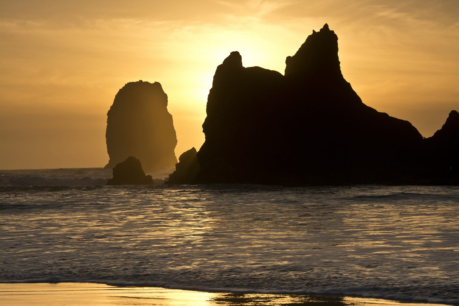 High Tide at Cannon Beach at Sunset