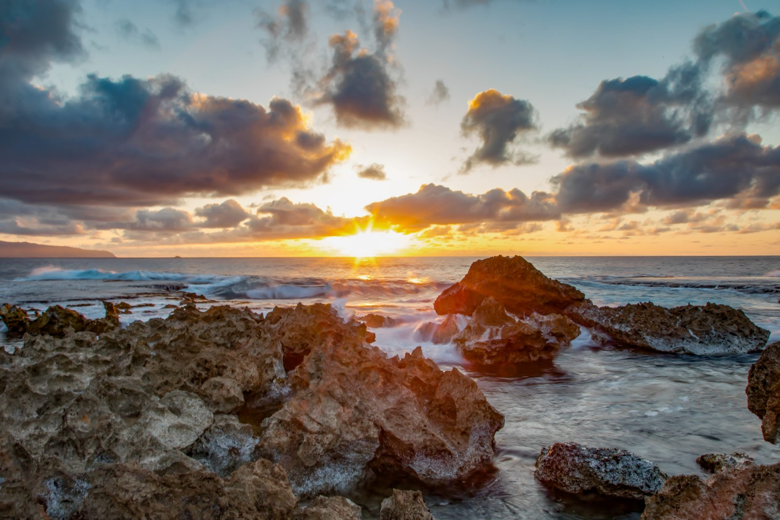 Sharks Cove At Sunset