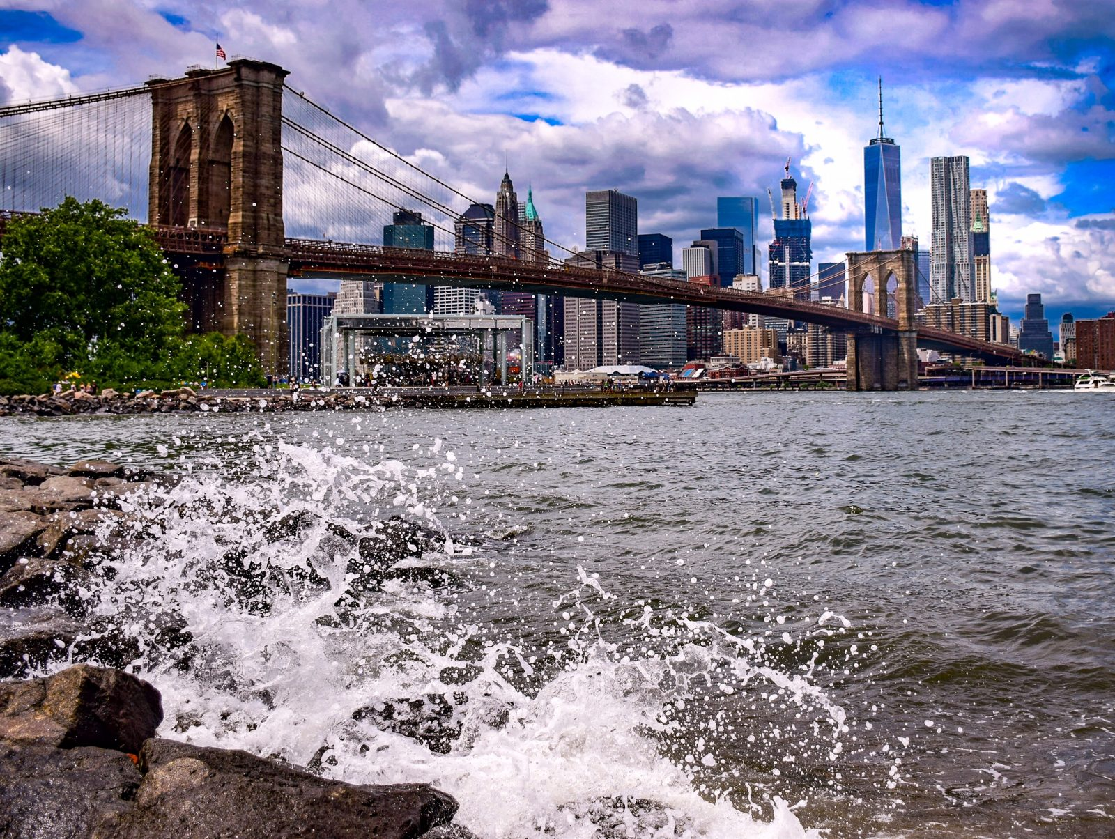 Dramatic Skies and Rocky Shores in New York City