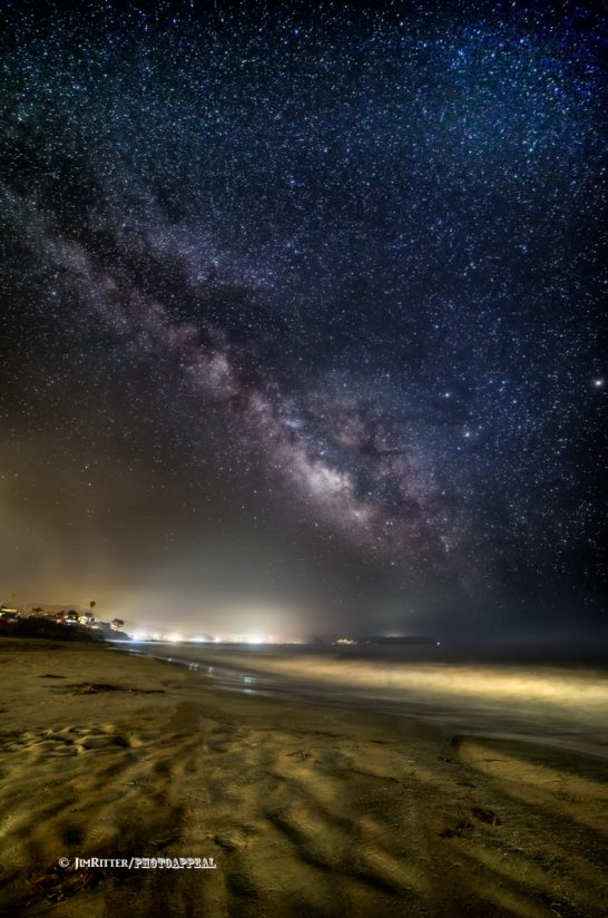 Milky Way over Morro Bay