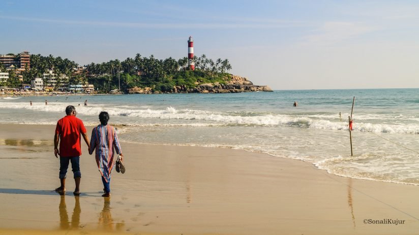 Lighthouse Beach near Kovalam in Thiruvananthapuram district, Kerala.