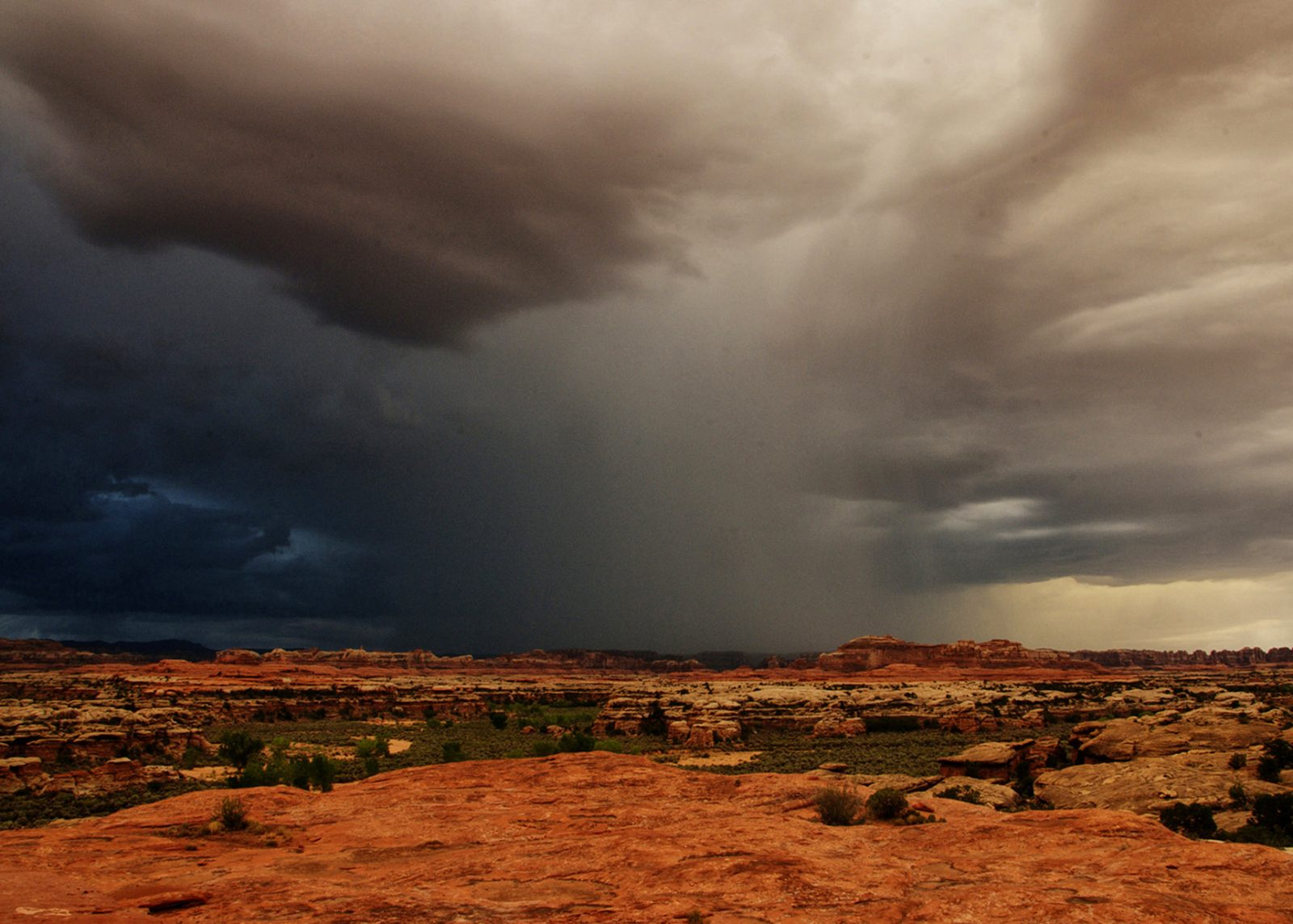 Approaching storm in Canyonlands.