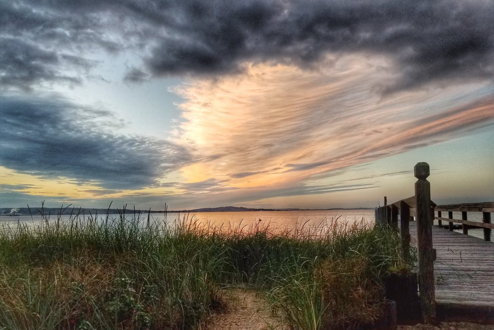 The Port Townsend Bay at sunset….