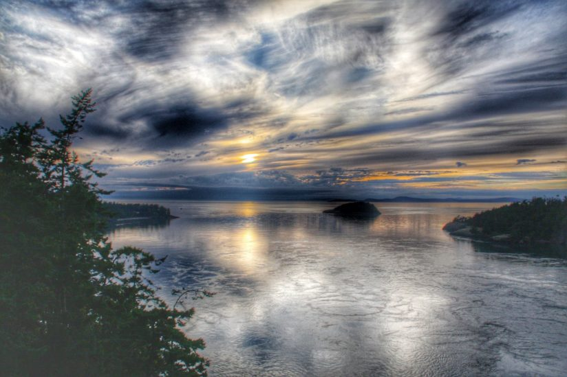 Sunset from the Deception Pass Bridge