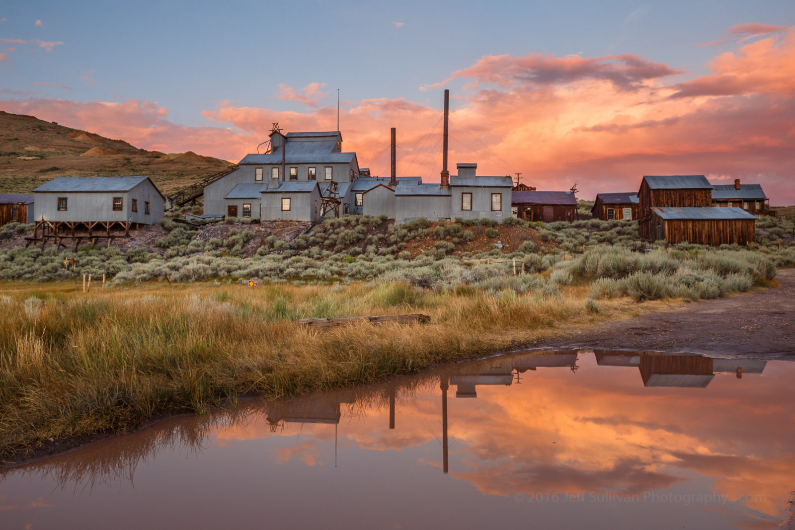 Standard Mill Sunset Reflection in Bodie