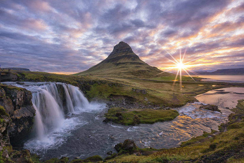Kirkjufellsfoss Midnight Sunrise