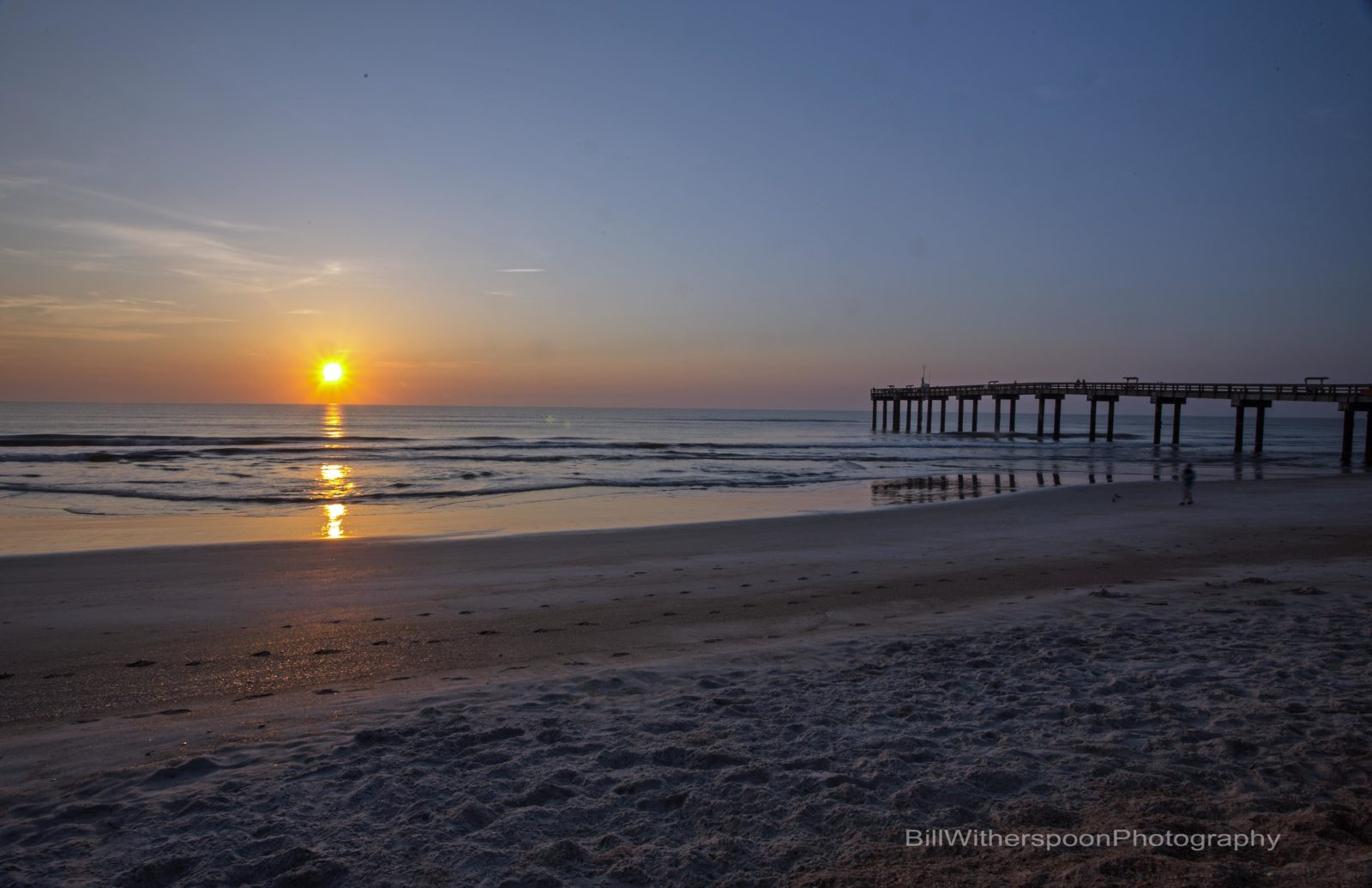Sunrise on Beach at St Augustine Pier