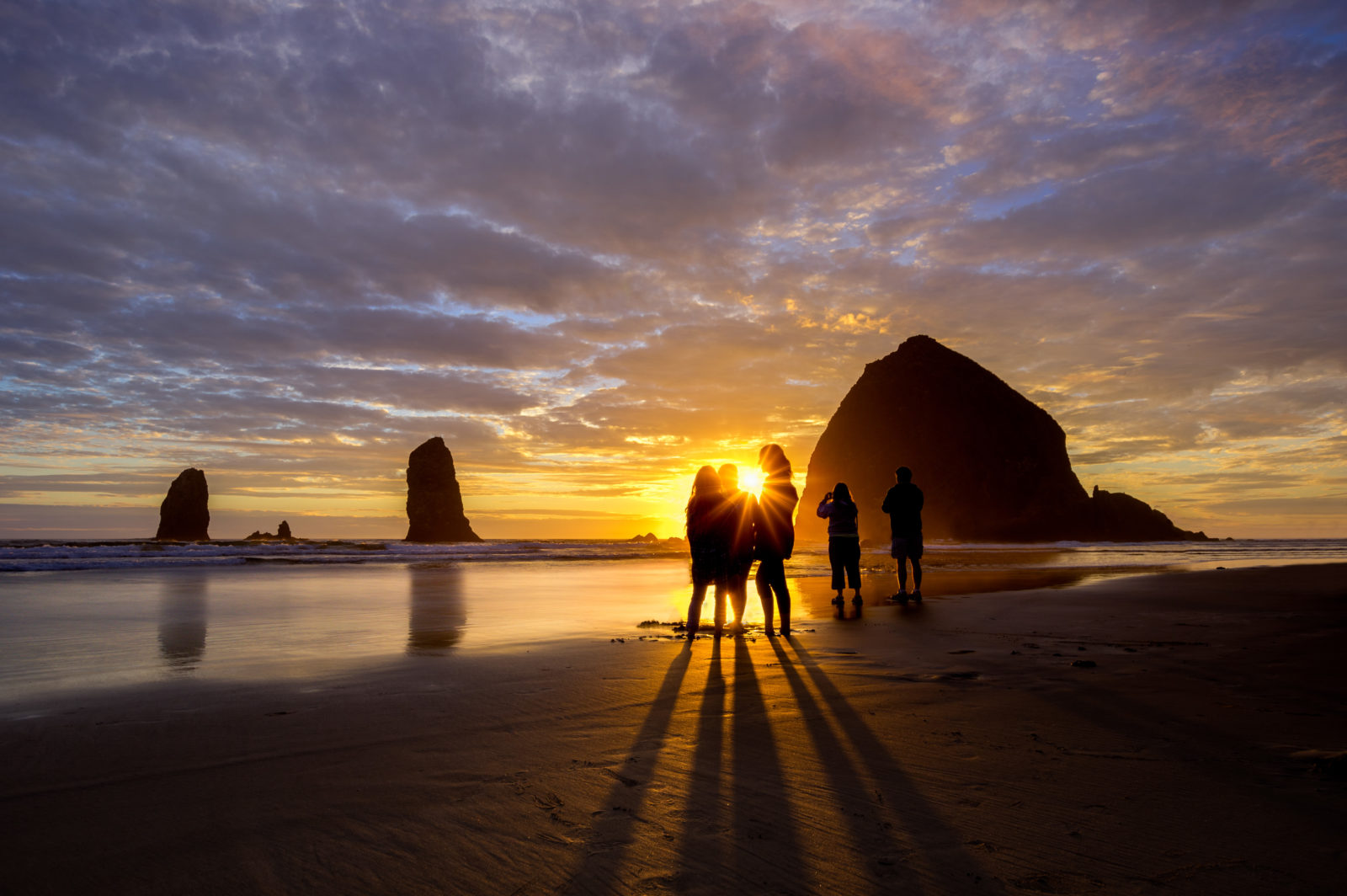 Kids at Haystack Rock