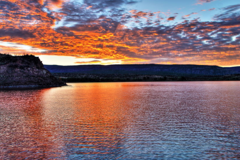 Sunrise over Cochiti Lake