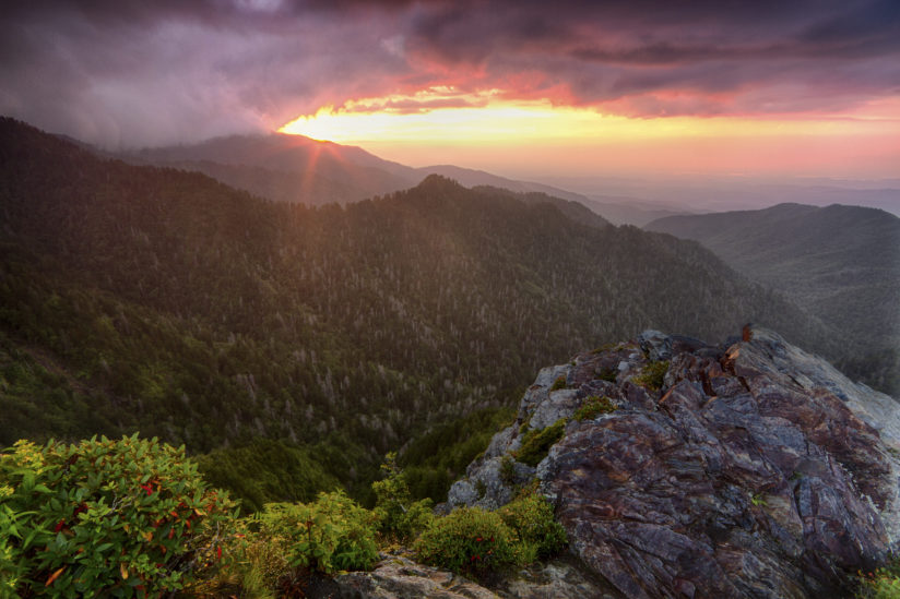 Sunset over Mt. LeConte