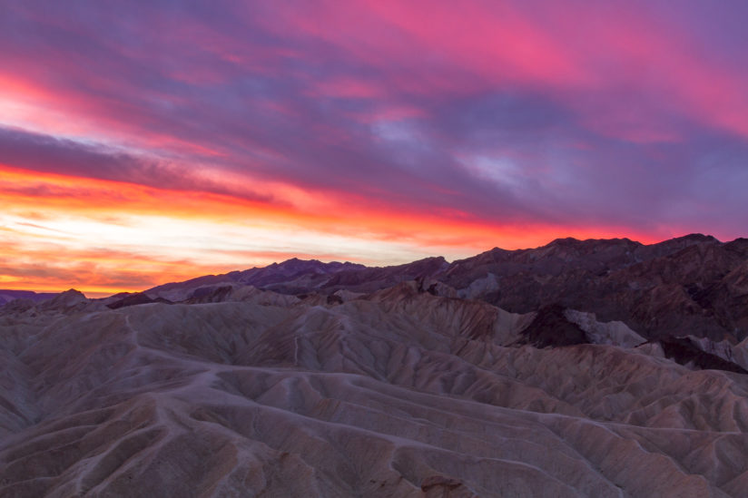 Sunrise on Zabriskie Point