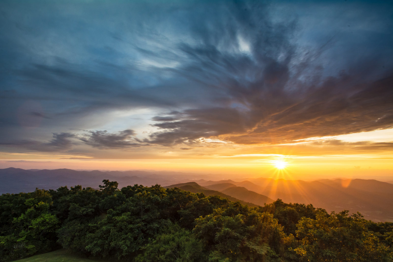 Blue Ridge Sunset from highest point in Georgia