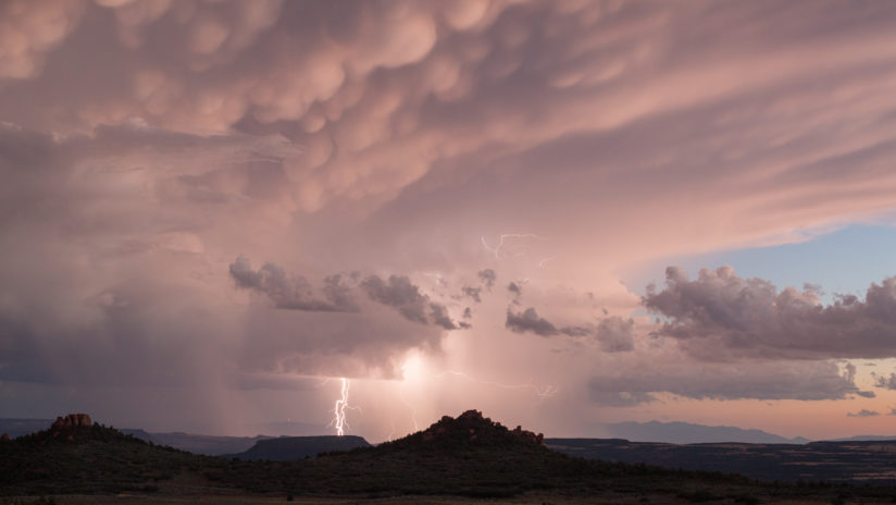 Summer monsoon storm as seen from Hop Valley Kolob Mountain
