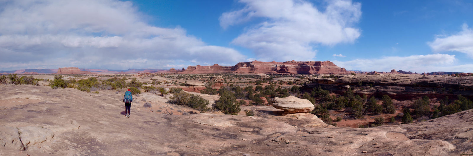 Hiking into Canyonlands