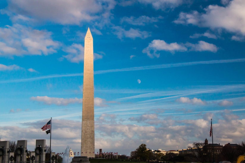 Washington Monument moonrise