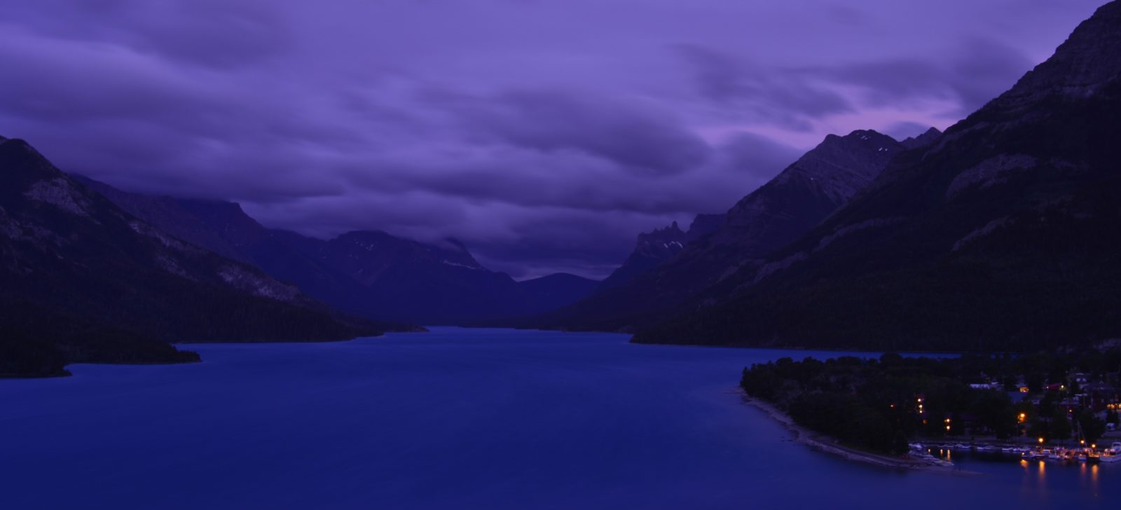 Twilight Upper Waterton Lake