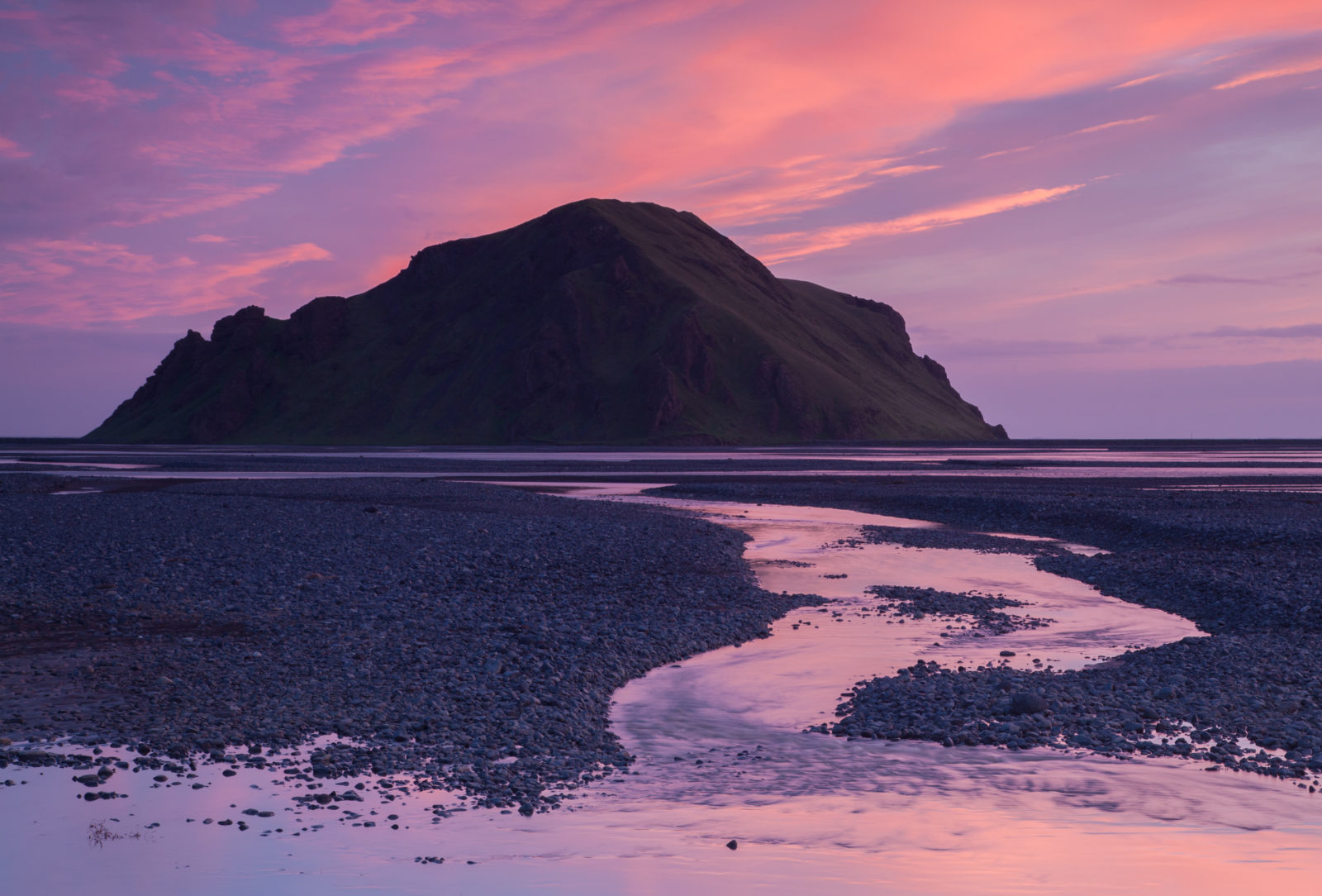 Midnight in South Iceland