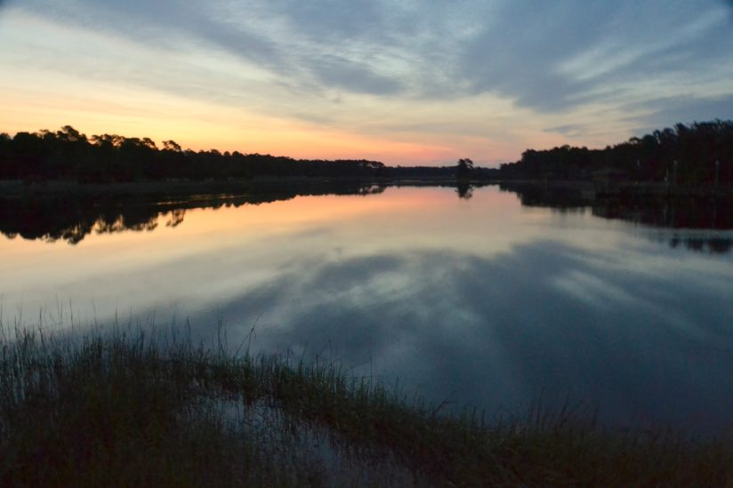 Sunrise over the Calabash River, NC