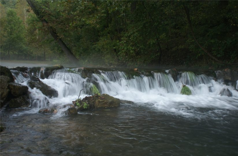 Peaceful falls