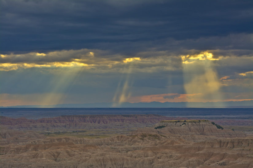 God's Rays at the Badlands