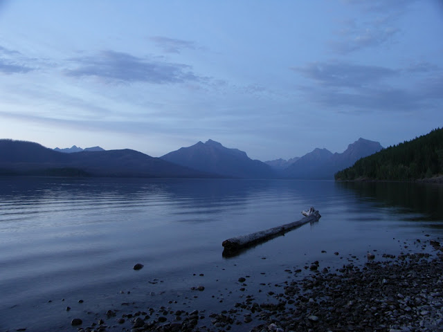 Sunset on McDonald Lake, Glacier National Park