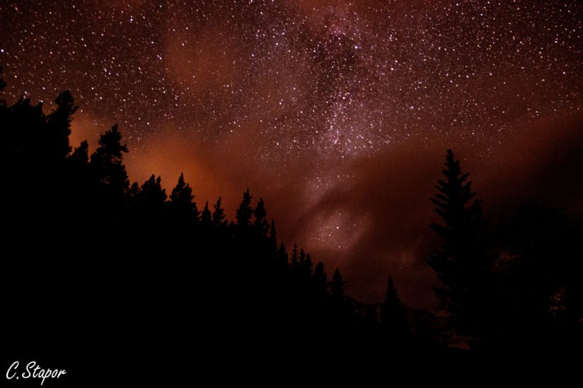 Milky Way peaking through the clouds