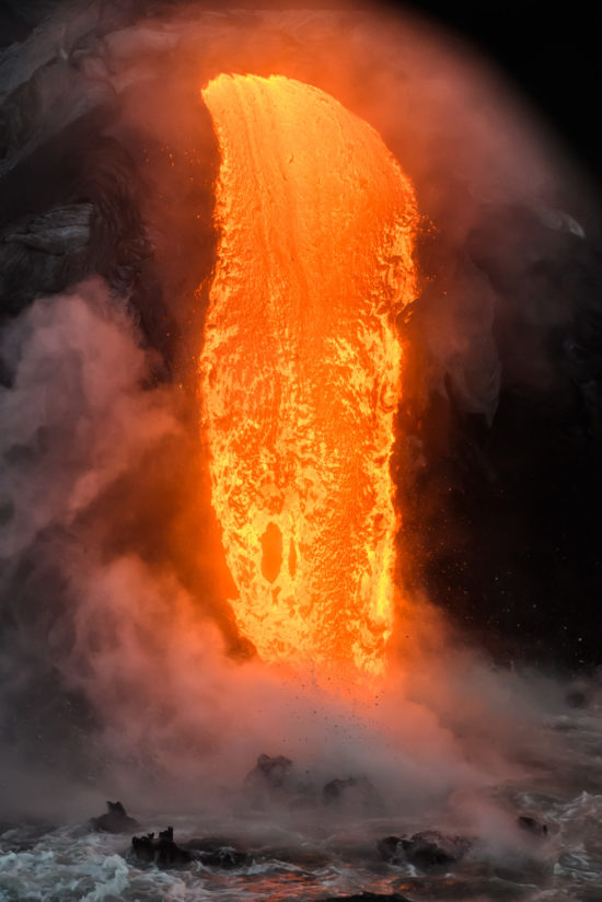Lava Enters the Ocean