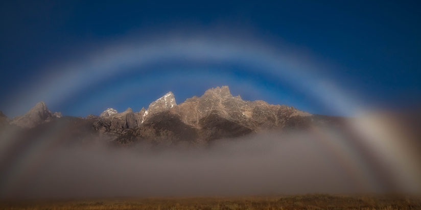 Fogbow over the Grand Tetons