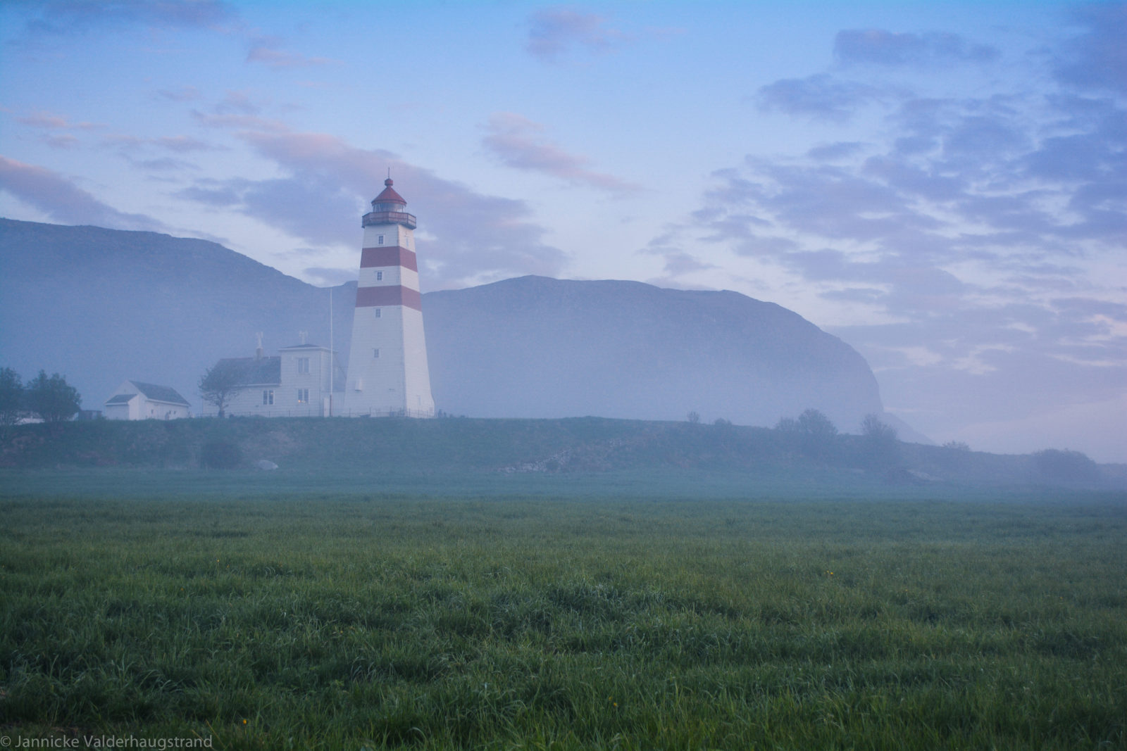 Lighthouse surrounded by fog