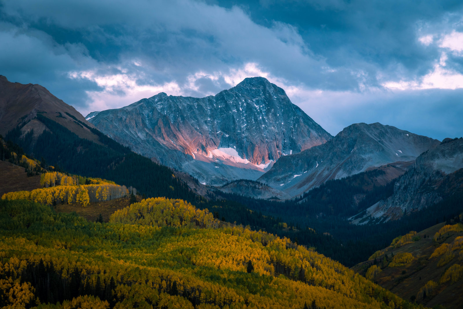 Last light on Capitol Peak